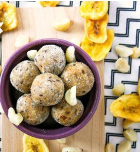 Gluten Free Banana Mac Nut Muffin Protein Bites