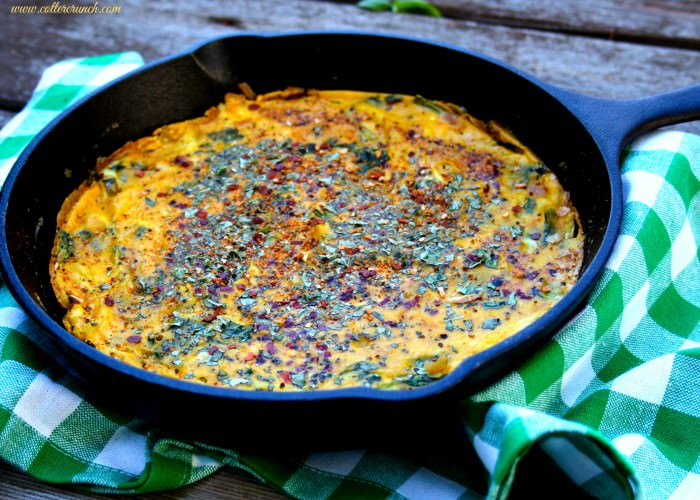 turkey kale pumpkin frittata- Paleo friendly and great use of leftovers.