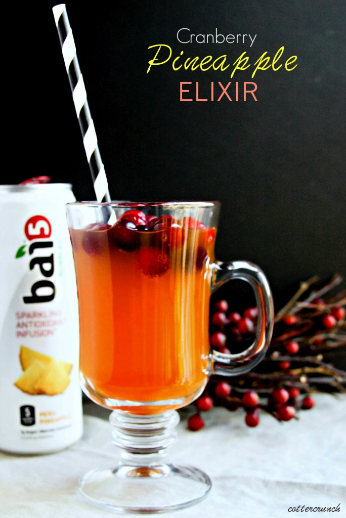 Try this recipe for cranberry pineapple gut healthy elixir with turmeric. It's the perfect drink to support digestion and liver, and it tastes delicious!