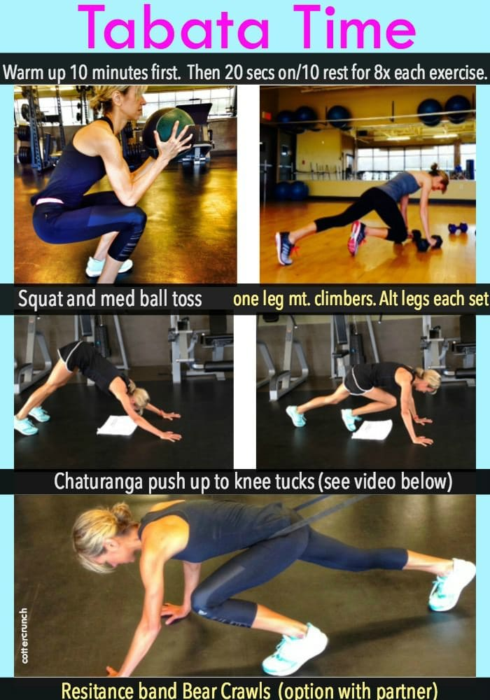 Compound Exercises for a quick and effective Tabata Training Workout - Cottercrunch