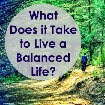 What does it take to live a balanced life? My thoughts, tips, and real life examples. #pathTofit. @cottercrunch