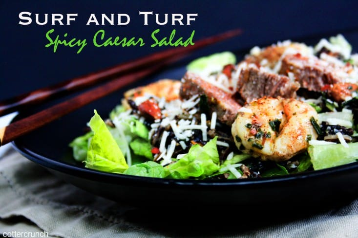 This curry spiced surf and turf caesar salad is a healthy dish great for spicin' up your salads while keeping your immune system strong! Easy to make and my version is gluten free of course!