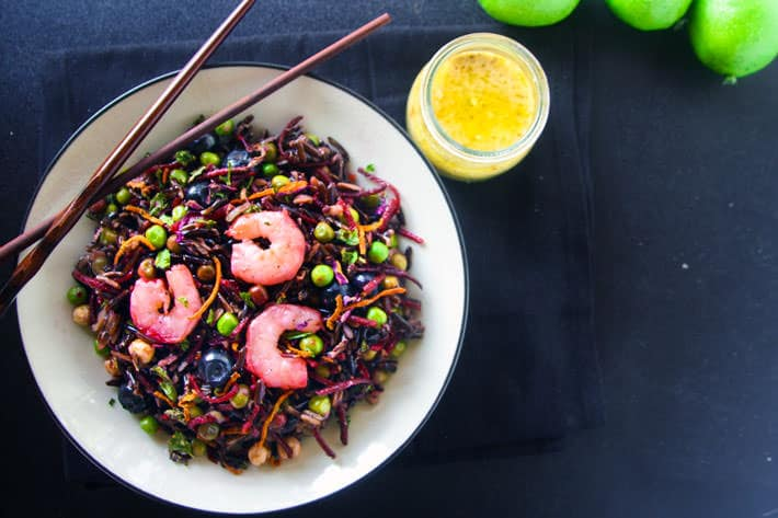 Shrimp Salad with Black Rice