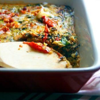 Gluten free BLT baked casserole