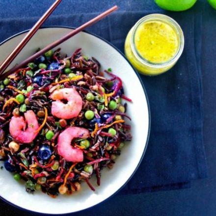 Beet and Wild Rice Shrimp Salad
