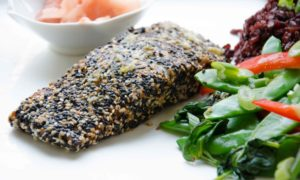 Asian Style Sesame Crusted Salmon {Gluten Free}