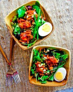 Tangy Asian BBQ Salmon Salad – Plus Lycopene Absorption!