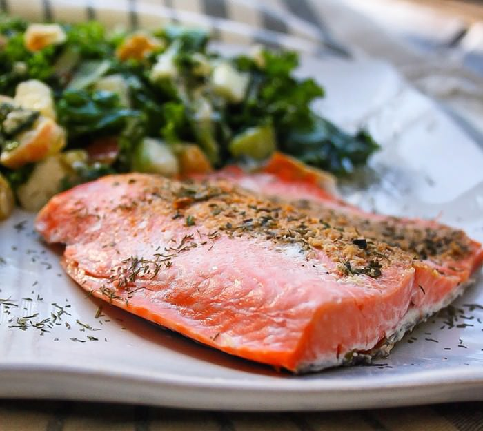rosemary salmon with orange zest