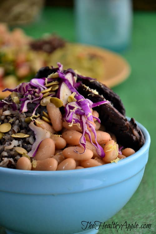 White Bean Portobello Bowl