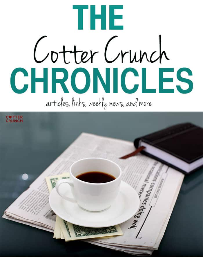 Cotter Crunch Chronicles - Food, nutrition, and recipe links to love - www.cottercrunch.com