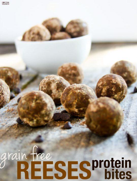Grain Free Reese's Protein Bites Recipe
