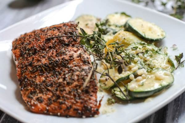 herbed salmon with cheesy zucchini (4 of 1)