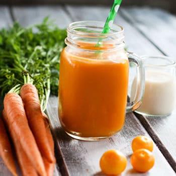 Immunity Boosting Orange Carrot Coconut Smoothie
