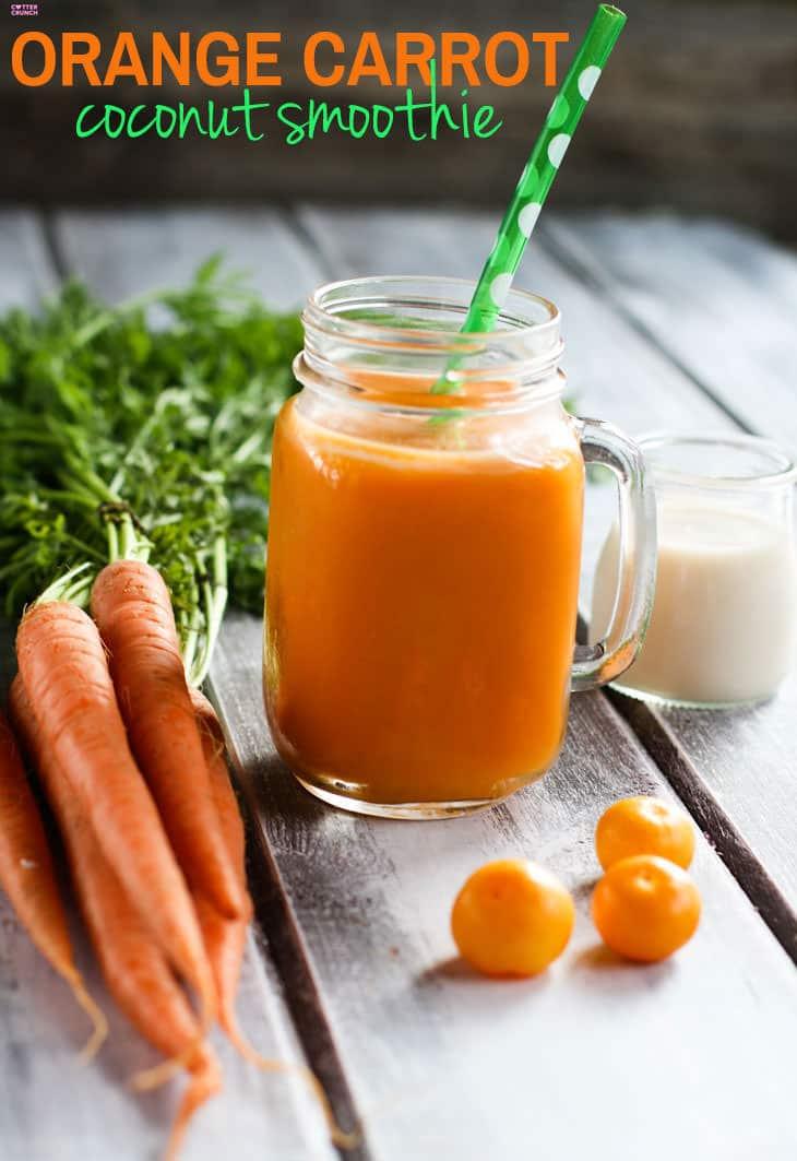 Immunity Boosting Orange Carrot Coconut Smoothie Cotter
