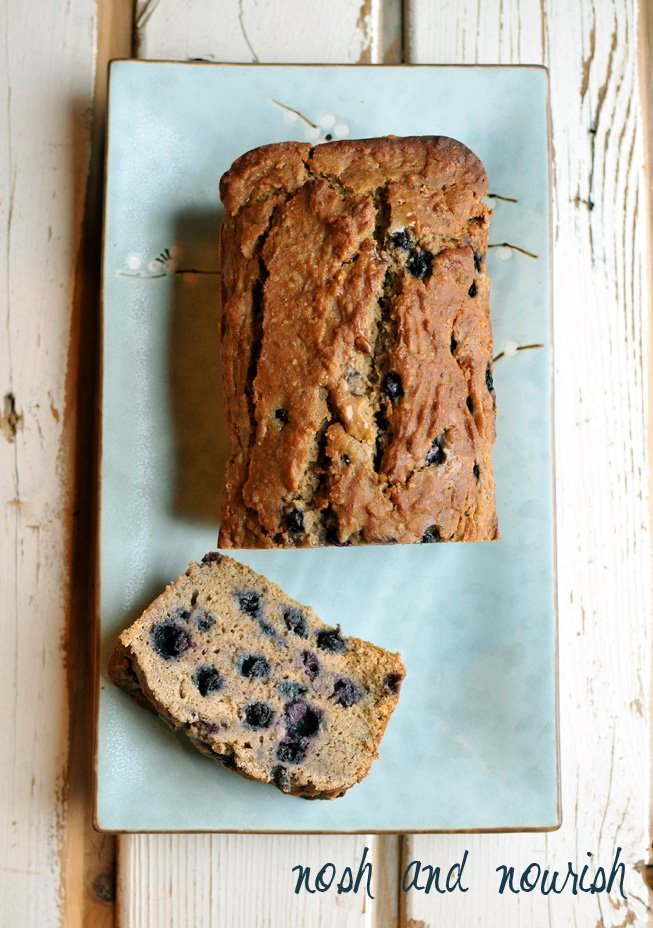 Vegan and Gluten Free Blueberry Banana Bread