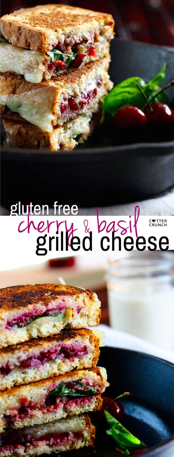 "Gluten Free Cherry Basil and Provolone Grilled Cheese. A healthy ""gourmet"" recovery meal with good carbs, protein, fats and anti-inflammatory rich nutrients. A fun twist on the original grilled cheese sandwich that your whole family will love, kids included!"