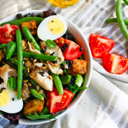 Salade Niçoise is one of the most refreshing salad recipes! This Paleo recipe version is full of flavor, healthy fats, nutrients. Ready in 30 minutes.