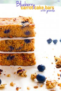 Blueberry Carrot Cake Bars with Granola {Breakfast to Go}