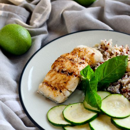 Ginger Lime Tamari baked cod recipe. Flavorful, healthy, and ready in 15 minutes. A great Spring or Summer meal! Plus more ways to season fish.