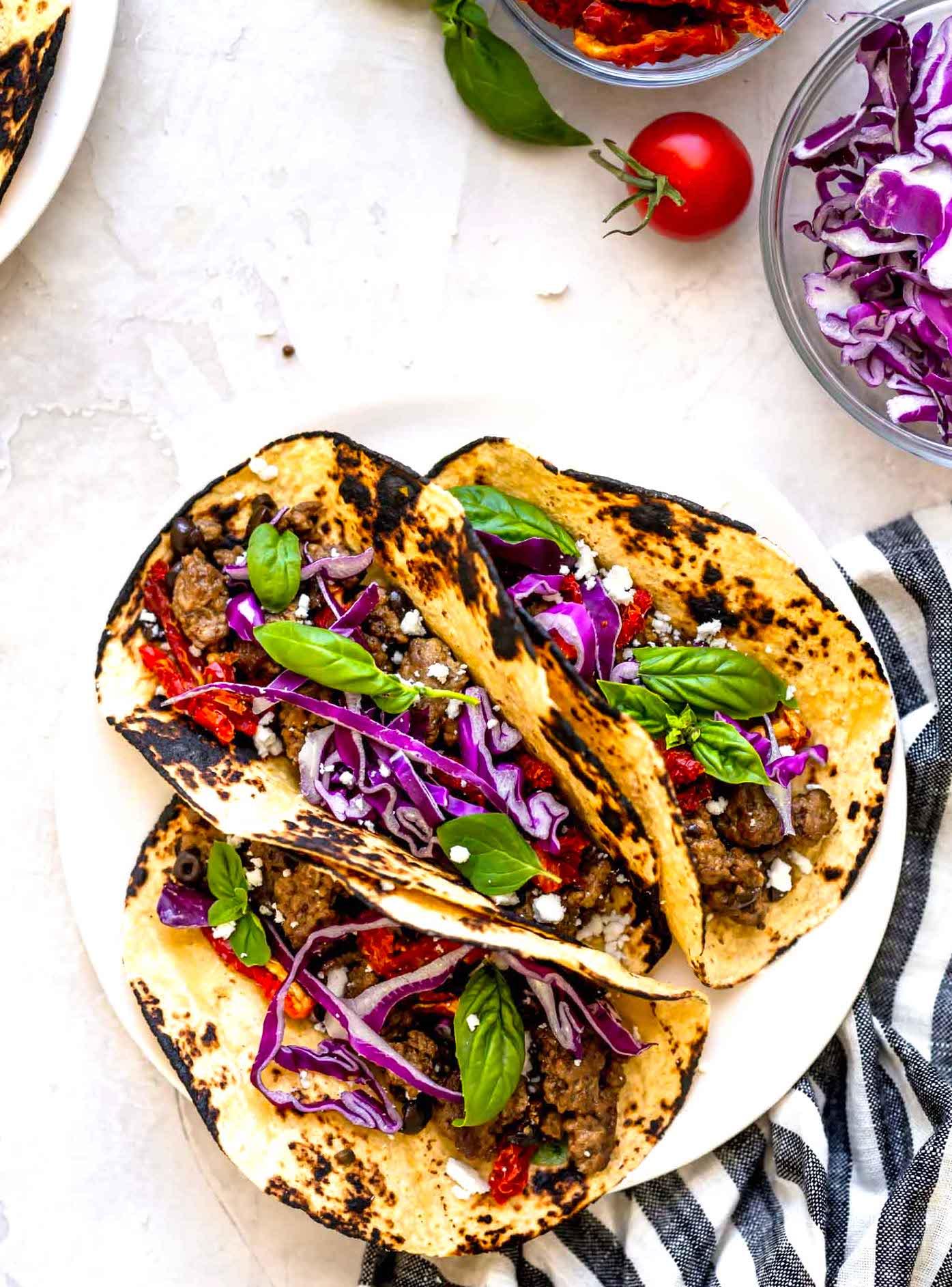 greek lamb tacos
