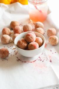 Pink Lemonade Kid Friendly Protein Bites {Grain Free}