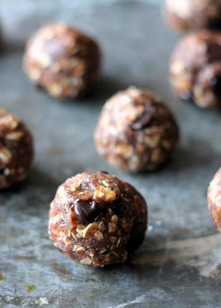 ambitious kitchen chocolate oatmeal cookie dough bites (vegan) @ambitiouskitchen