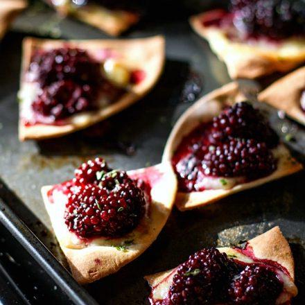 blackberry basil gluten free nachos