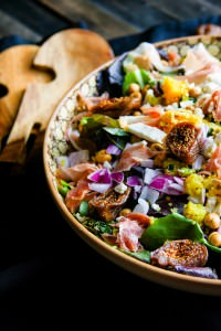 Moroccan Salad with Fig, Basil, and Prosciutto {gluten free}