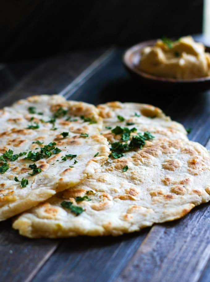 Paleo friendly grain free naan bread