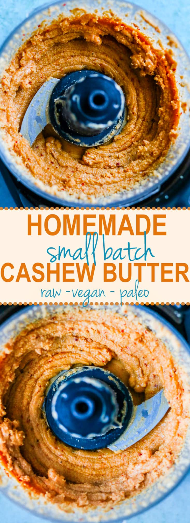 small batch of homemade raw cashew butter. So simple to make for those quick fix cravings or for sauces, snacks, etc. Paleo and vegan!