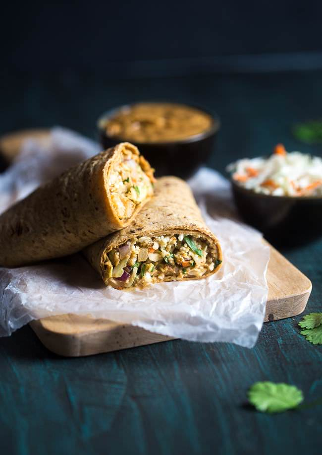 http://www.foodfaithfitness.com/thai-salad-and-cauliflower-rice-wrap/