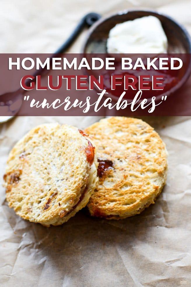 "Homemade Baked Gluten Free ""Uncrustables"" pin"