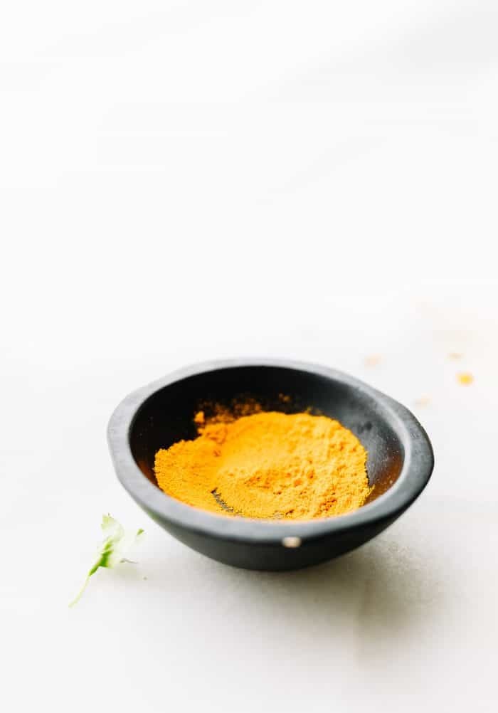 dish of curry powder