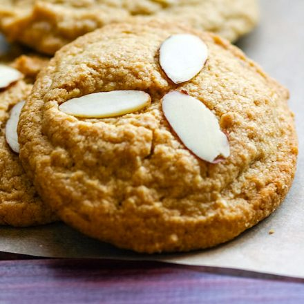 Cinnamon Spiced Almond Sugar Cookies
