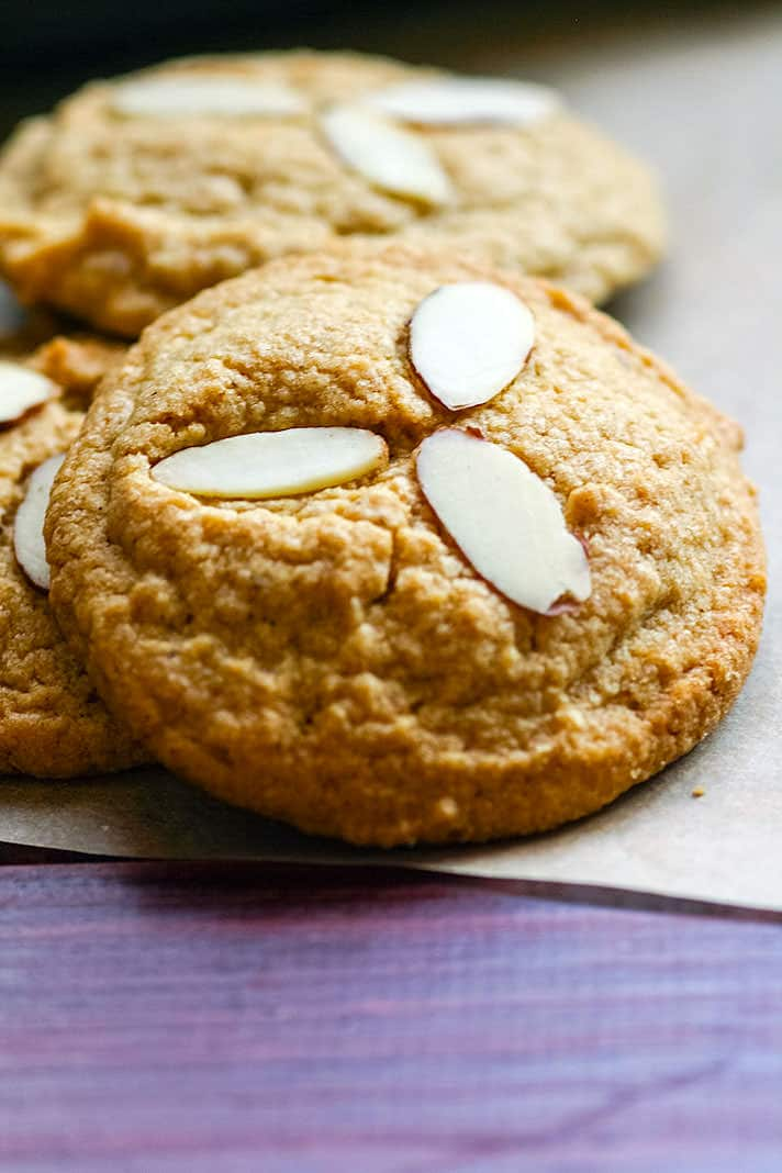 Grain Free and Paleo friendly cinnamon spiced almond sugar cookies! Made with healthy fats, coconut sugar, cinnamon, almonds, and taste like the real deal! Perfect FALL baking made healthy! A cookie recipe that you can enjoy for snacking or dessert. In fact, because they are grain free and made with natural coconut sugar. A healthy gluten free treat to satisfy your sweet tooth without the guilt!