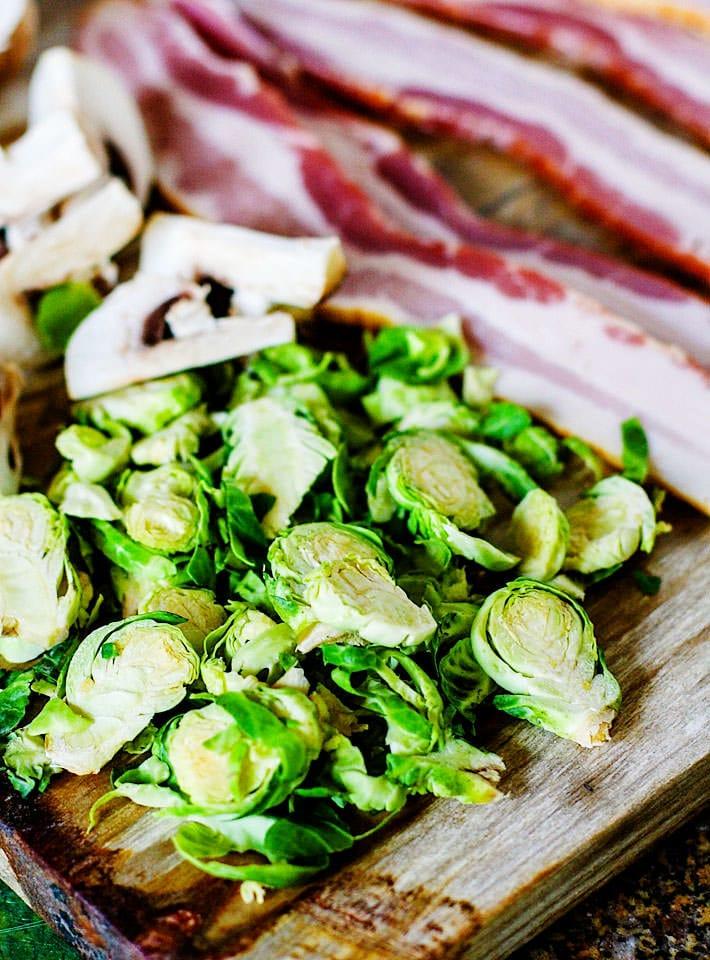 ingredients for bacon potato veggie soup