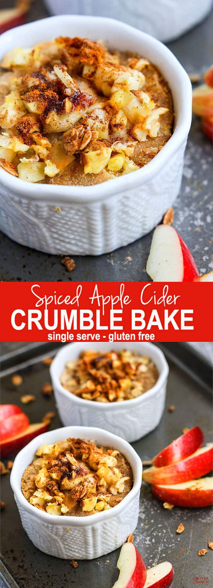 Healthy Spiced Apple Cider Crumble