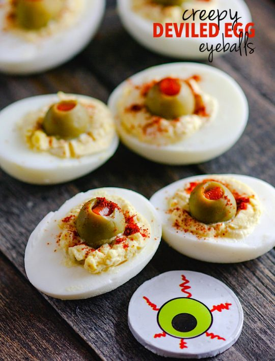 creepy deviled egg eyeballs
