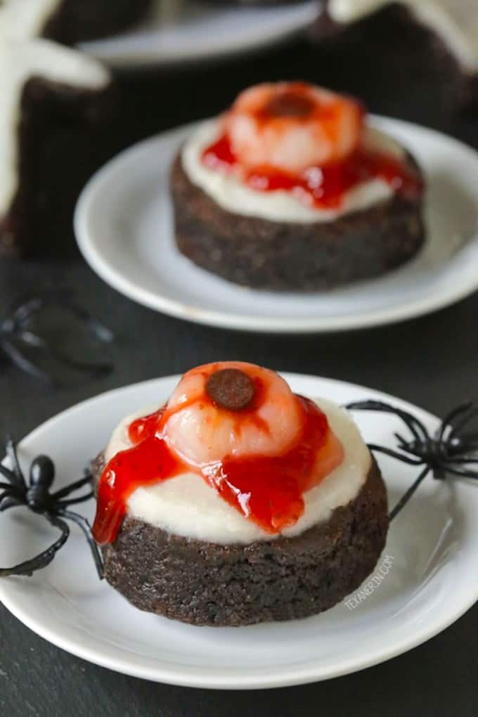 Paleo Bloody Eyeball Brownies from Texanerin Baking