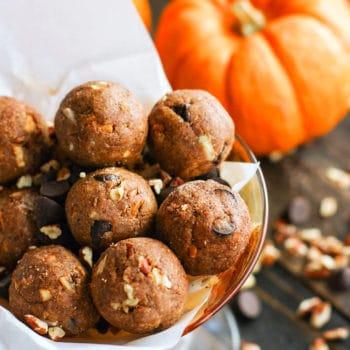 Pumpkin Spiced Chocolate Pecan Pie Bites
