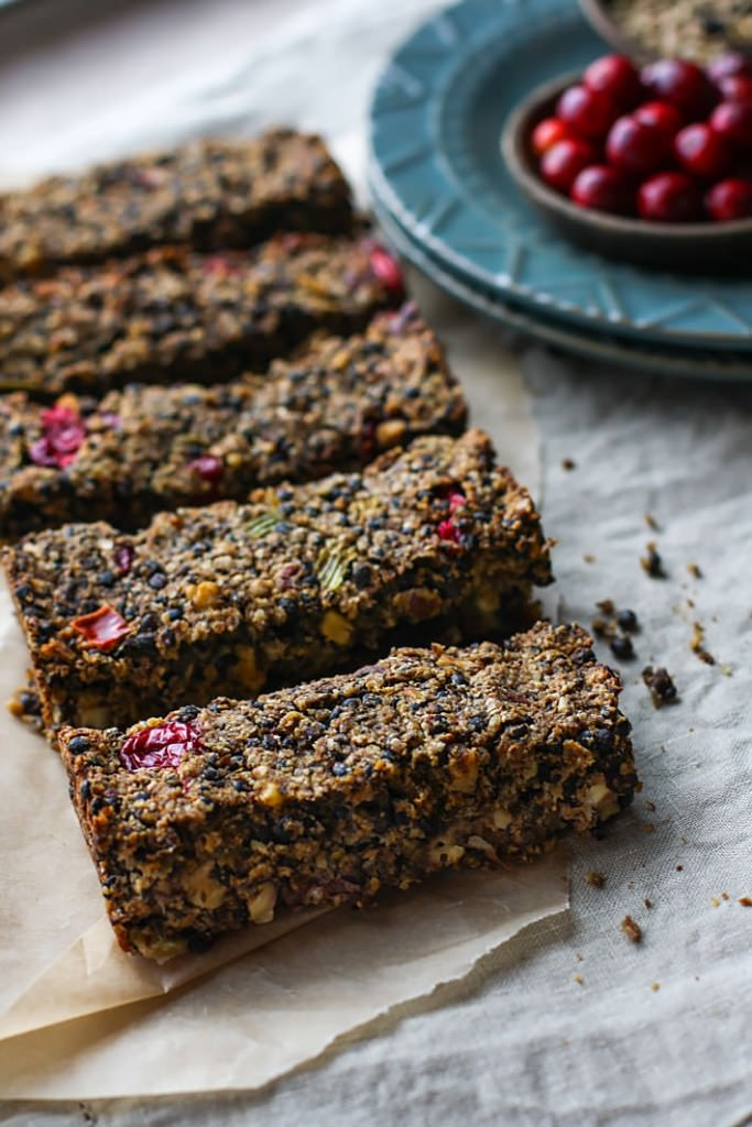 Vegan Cranberry Maple Lentil Loaf