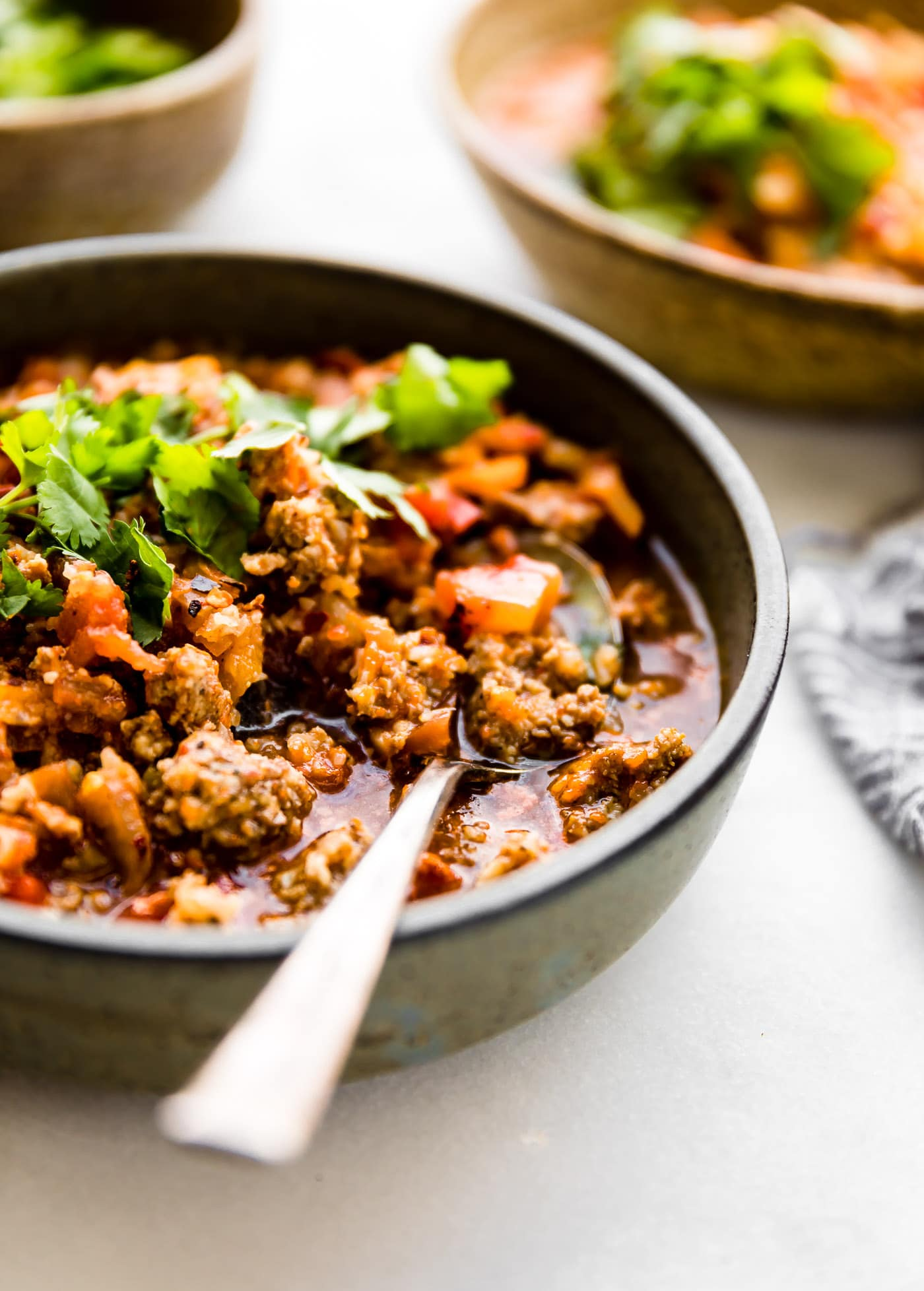 Crock pot Paleo sweet potato chipotle chili with pork