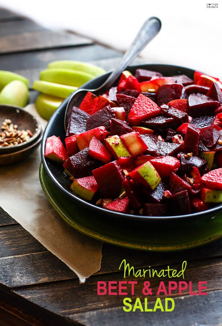bowl of Marinated Beet and Apple Salad