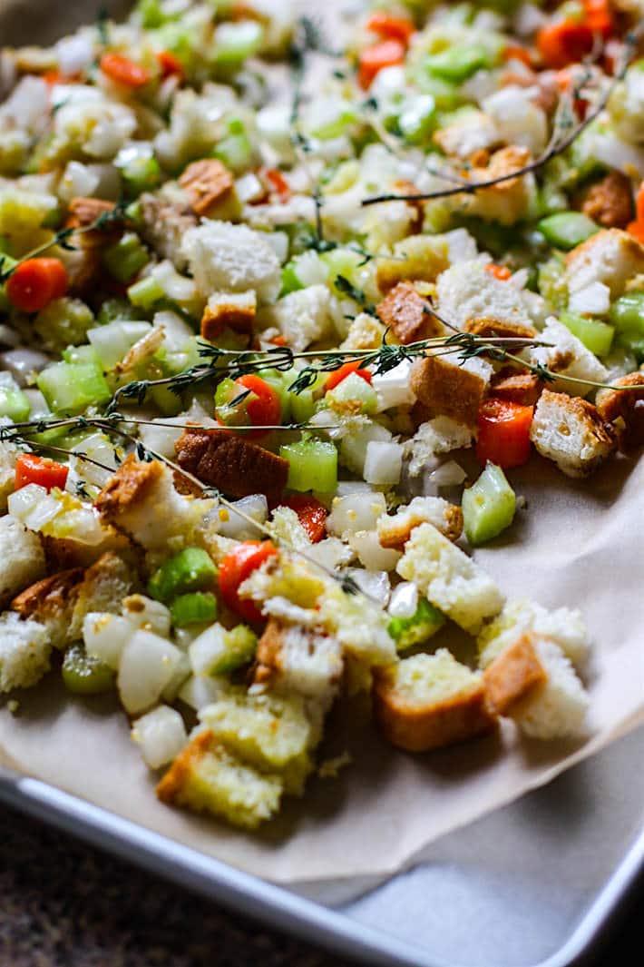 veggies for making gluten free stuffing salad