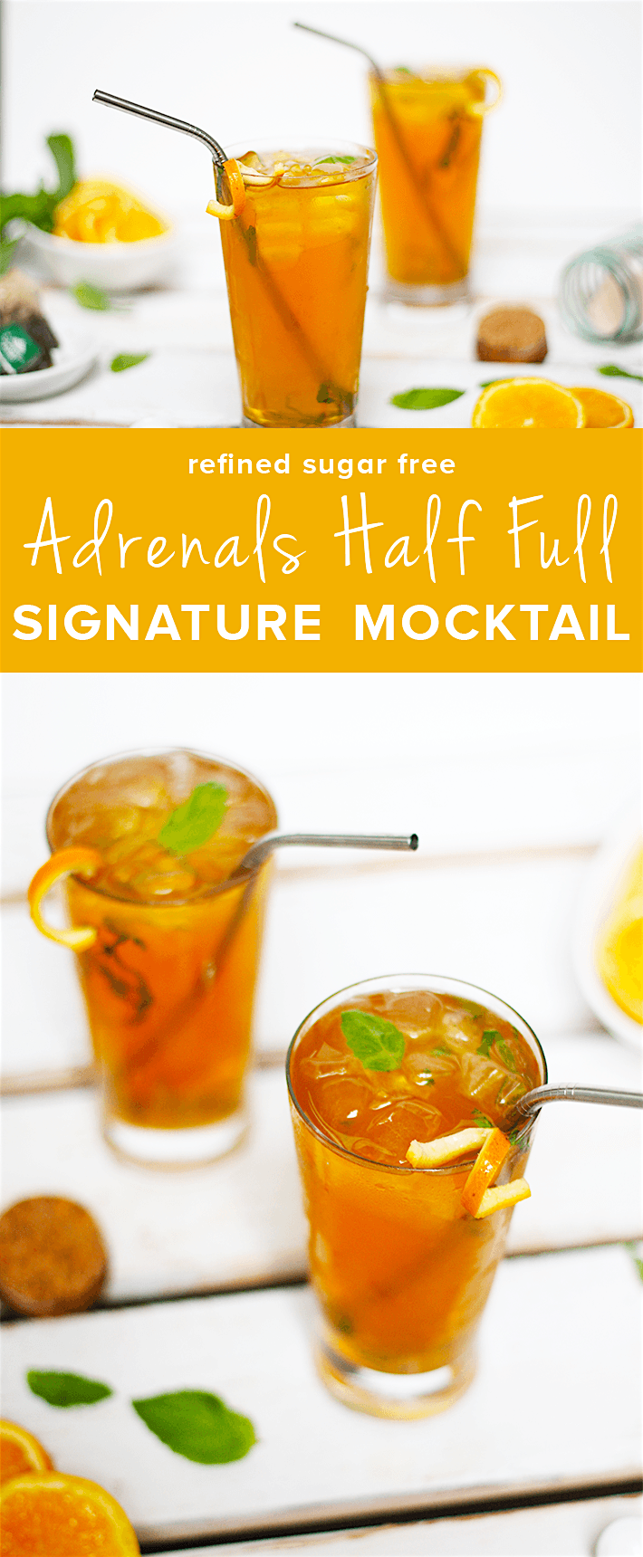 Adrenals Half Full Signature Mocktail is the perfect drink to add to your daily routine as a way to support your adrenal glands. @grassfedsalsa