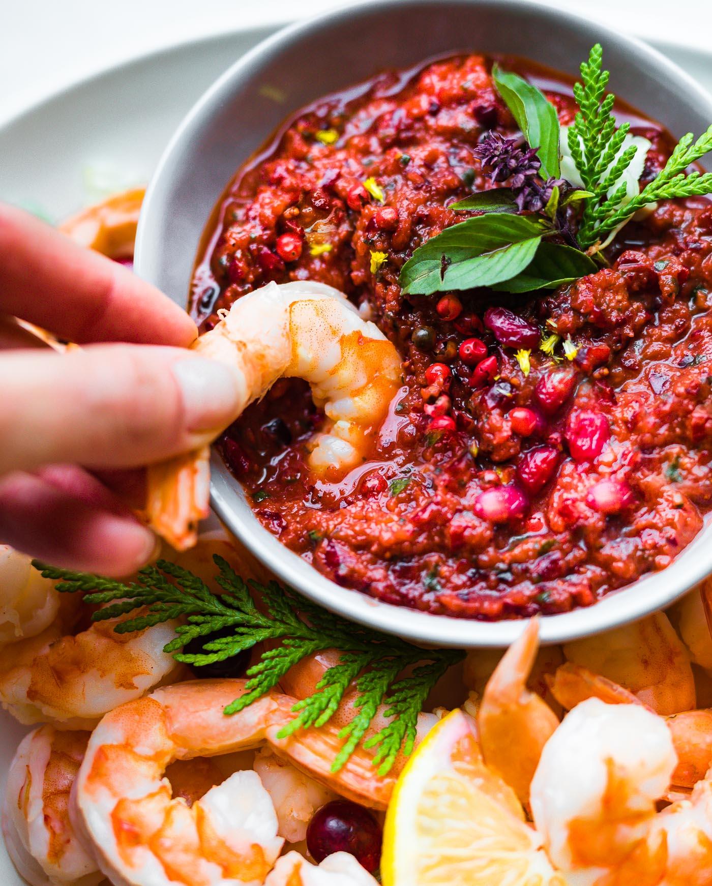 cranberry cocktail sauce with shrimp
