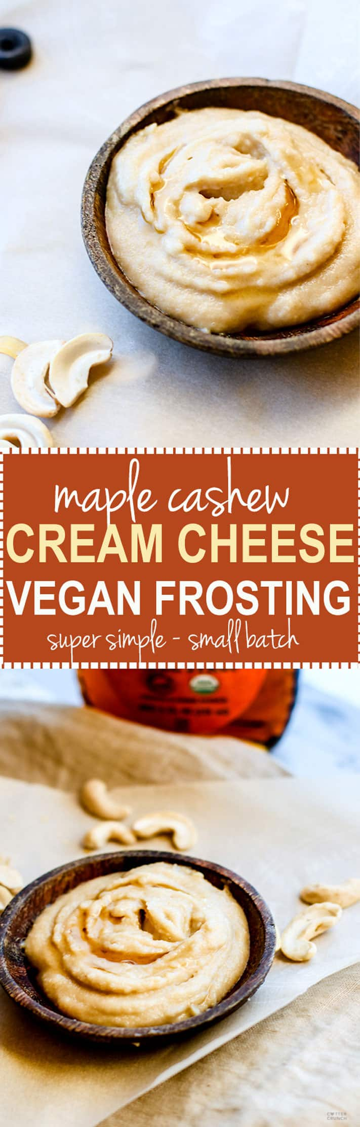 Small batch maple cashew cream cheese frosting vegan - Delicious easy make vegan desserts ...