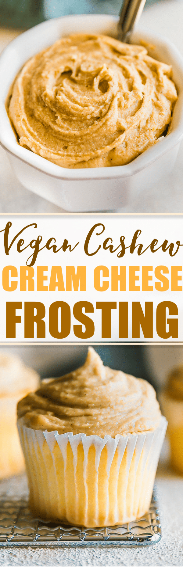 Super Simple and Easy to make Vegan Maple Cashew Cream Cheese Frosting! Paleo friendly and delicious dairy free cream cheese frosting alternative! #vegan #paleo #frosting