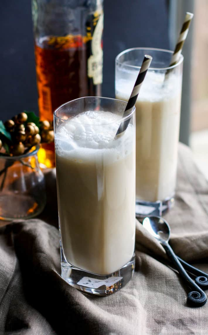 Healthy Coconut Milk Eggnog Steamers! This dairy free eggnog drink is quick to make, single serve or for multiple, full of good healthy fats, and super delicious! Enjoy during the holidays or anytime!