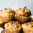 paleo ginger spiced pear muffins
